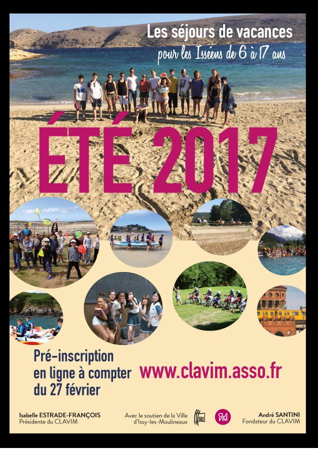 Pr inscription aux s jours t 2016 - Date de solde ete 2017 ...